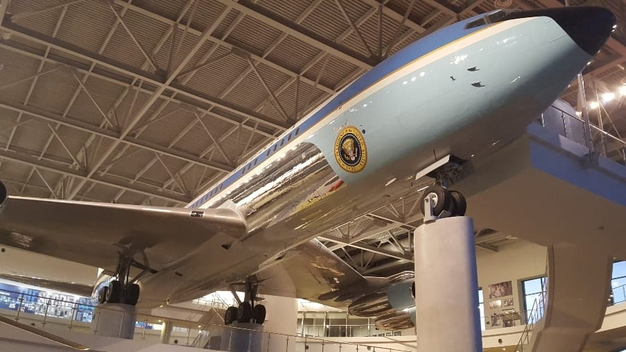 Air Force One at Ronald Reagan Presidential Library