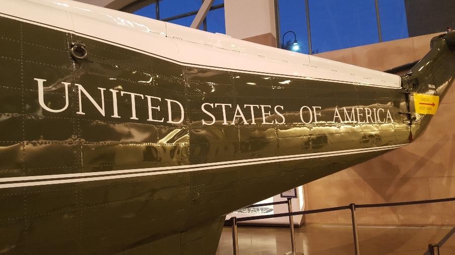 Marine One tail at Ronald Reagan Library