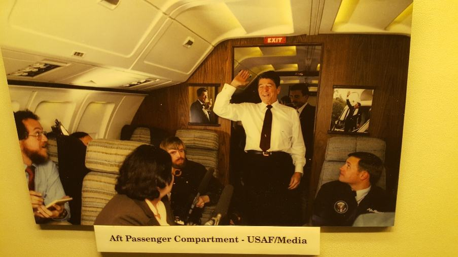 President Reagan on Air Force One.