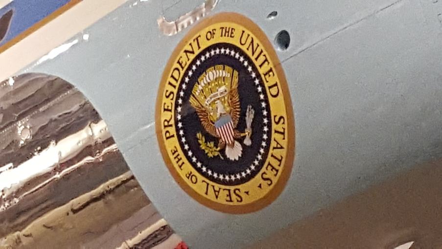 Presidential Seal on Air Force One at Ronald Reagan Presidential Library