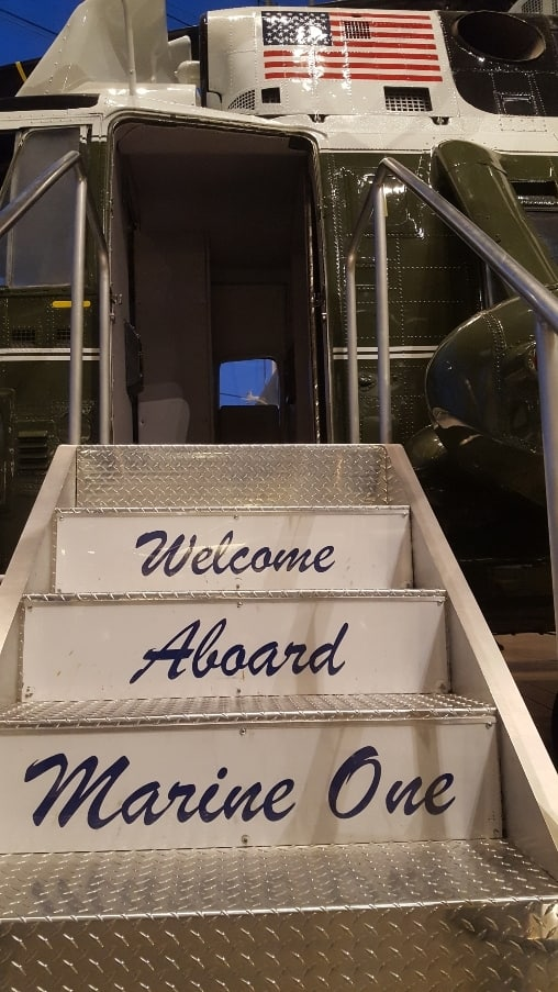 Welcome Aboard Steps of Marine One.