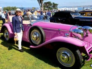 La Jolla Concours d'Elegance Clinton and pinky