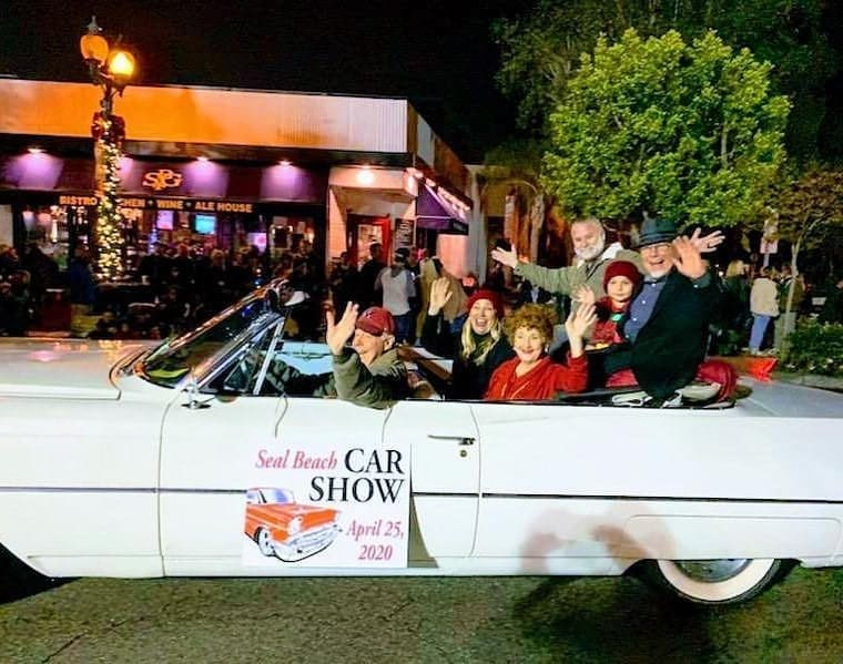 Seal Beach Classic Car Show Christmas Parade promotion convertible
