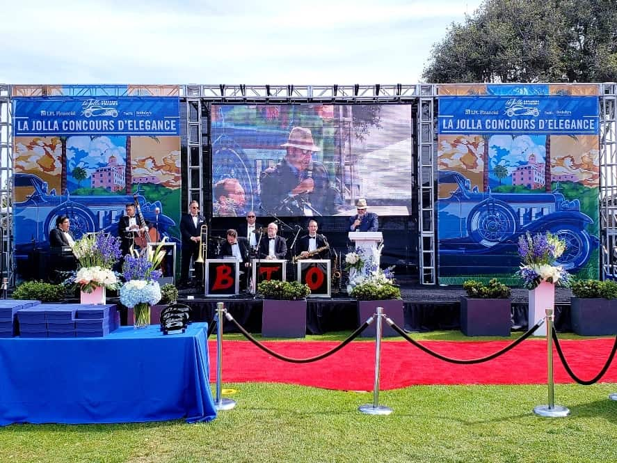 Live Music on Main Stage at the La Jolla Concours d'Elegance