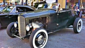 classic car in downtown burbank for the classic car show