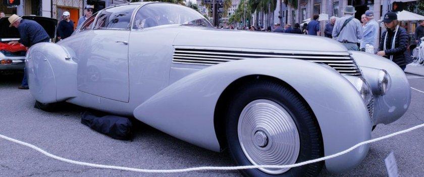 silver Hispano Suiza banner