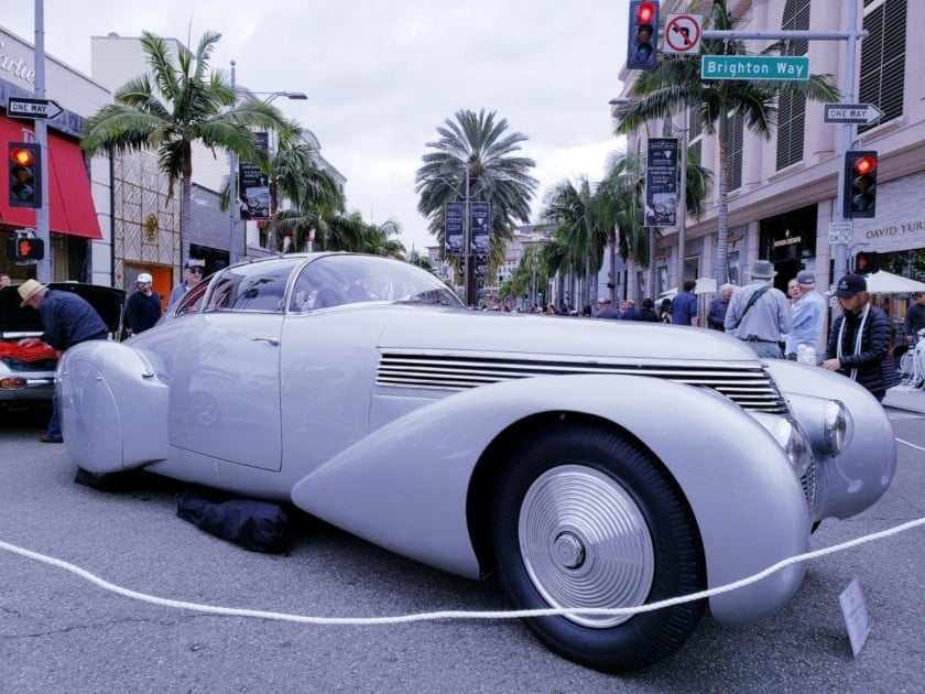 Silver Hispano Suiza - part of Awesome Auto Show June
