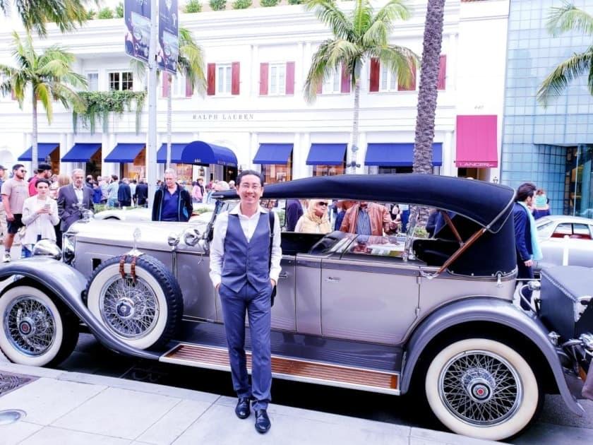 Professor and Packard @ Rodeo Drive Concours