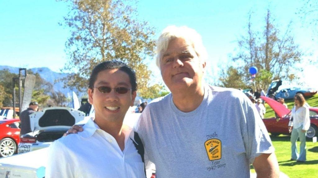 iDriveSoCal's Professor, Clinton Quan, at the ArtCenter College of Design with Jay Leno