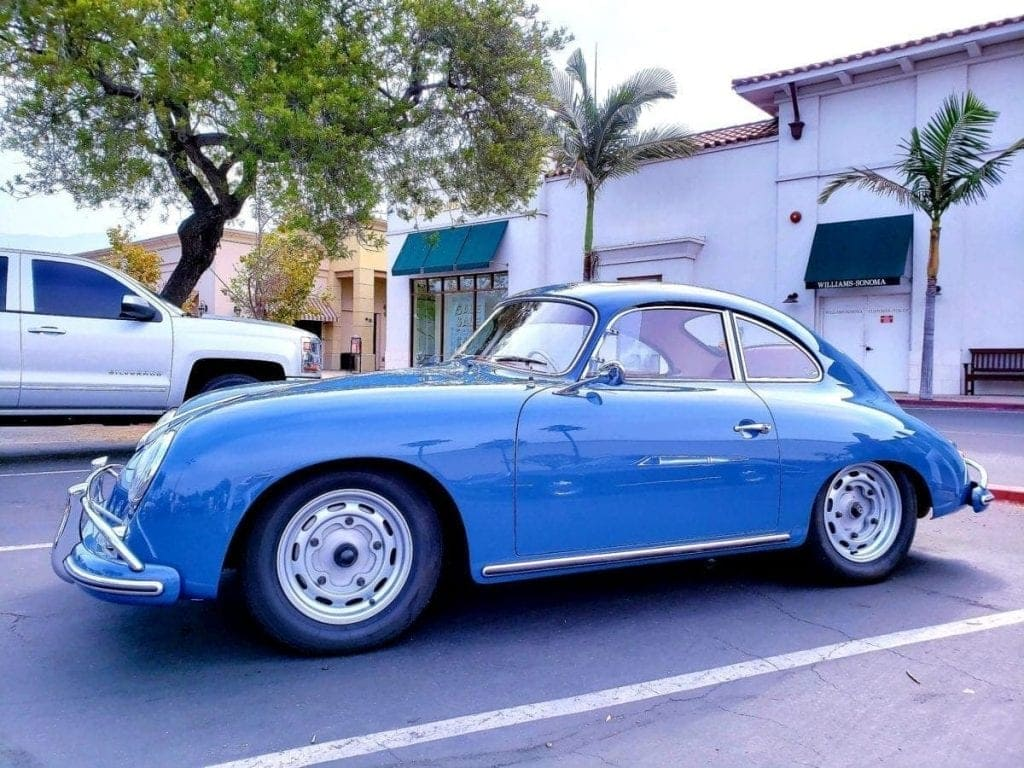 Blue Porsche 356A 1600 Super