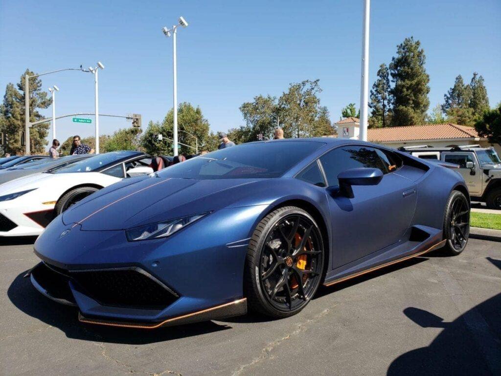 Dark blue Lamborghini Huracan