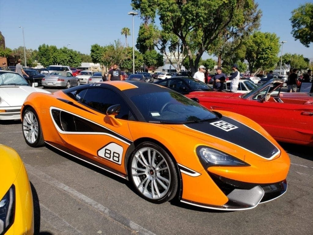 Orange McLaren 570S