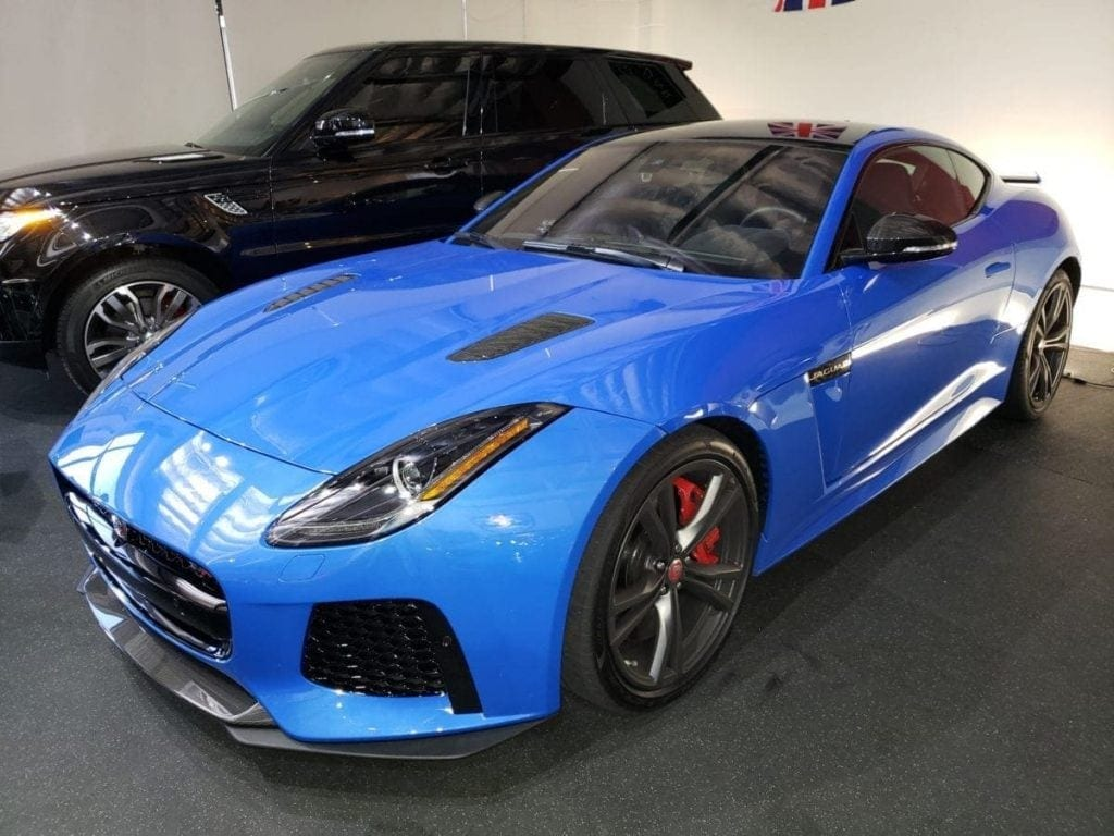 Blue Jaguar F-Type SVR