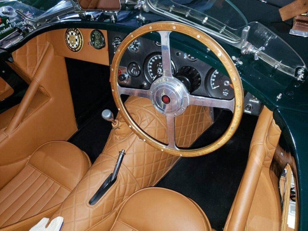 Green classic Jaguar dash