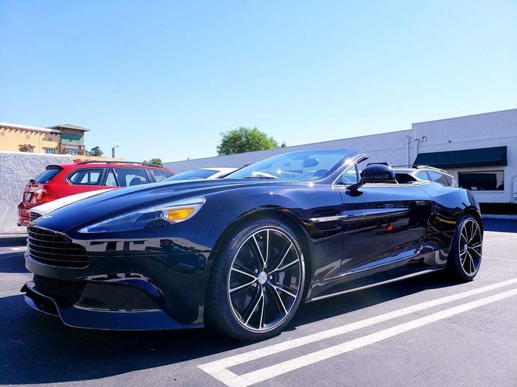 Black Aston Martin Vanquish Volante