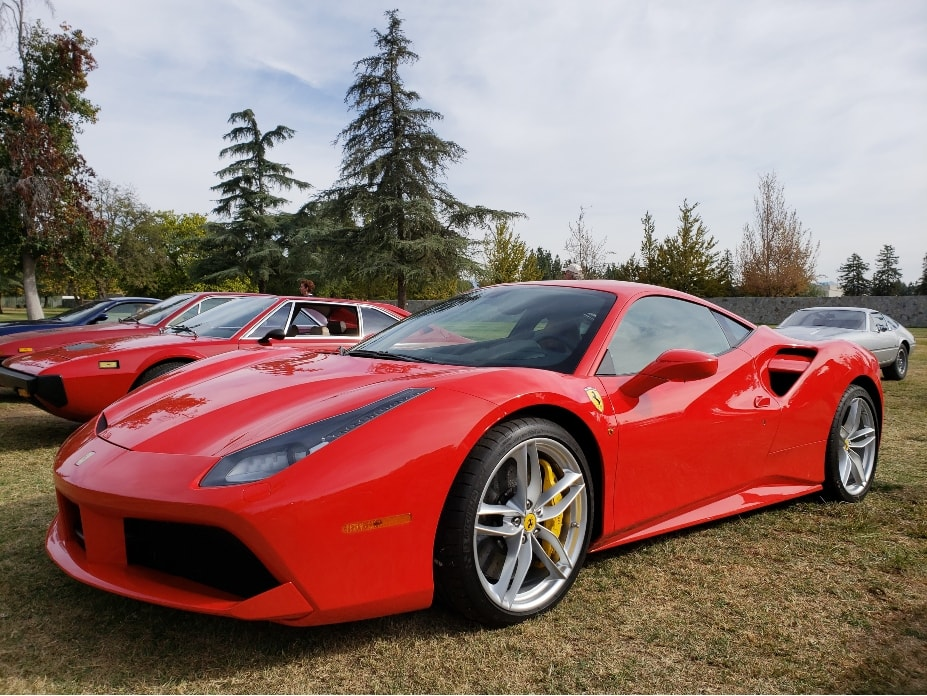 Best of France and Italy - red Ferrari