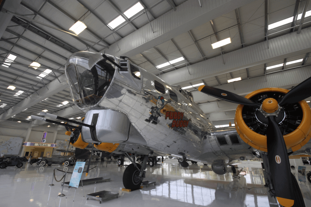 B-17 Flying Fortress, Fuddy Duddy at The Lyon Air Museum