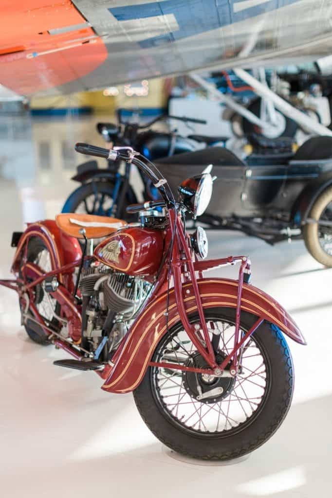 Vintage Indian Motorcycle at Lyon Air Museum