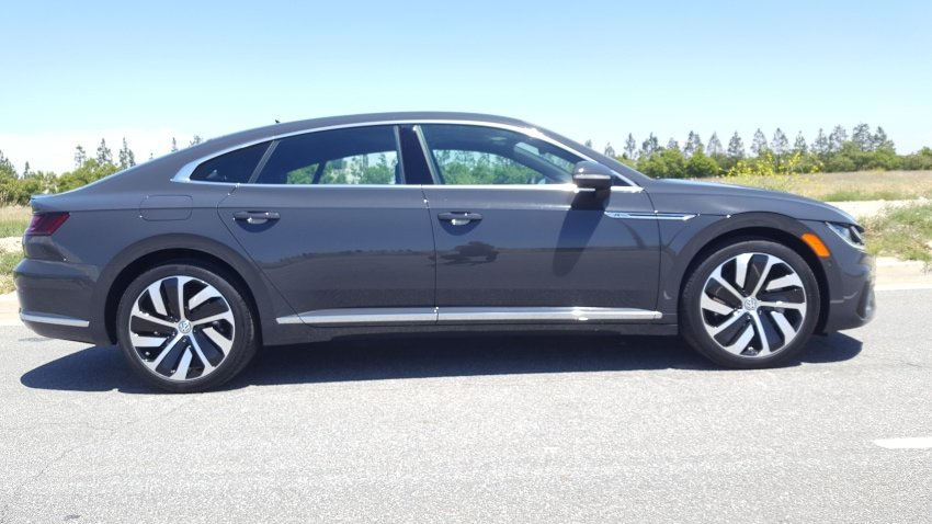 Gray 2019 VW Arteon Passenger profile