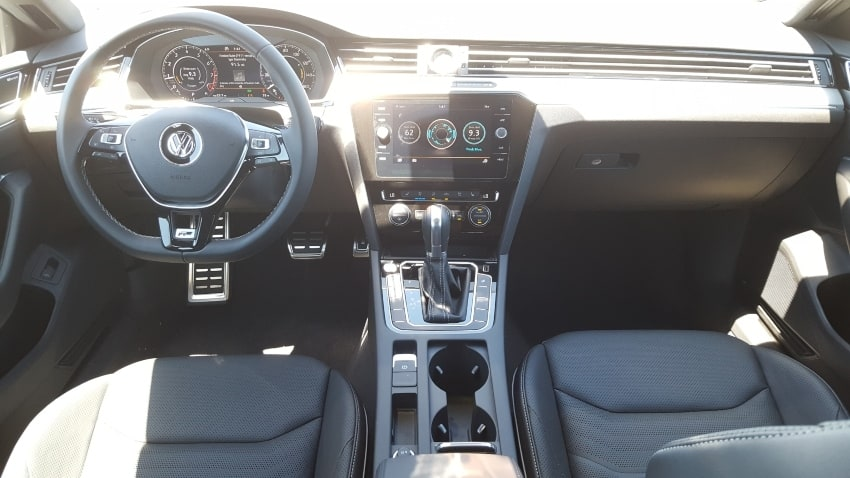 Interior 2019 Volkswagen Arteon dash from backseat