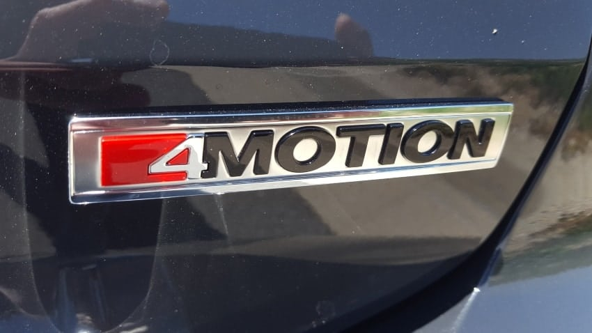 VW 4MOTION badging