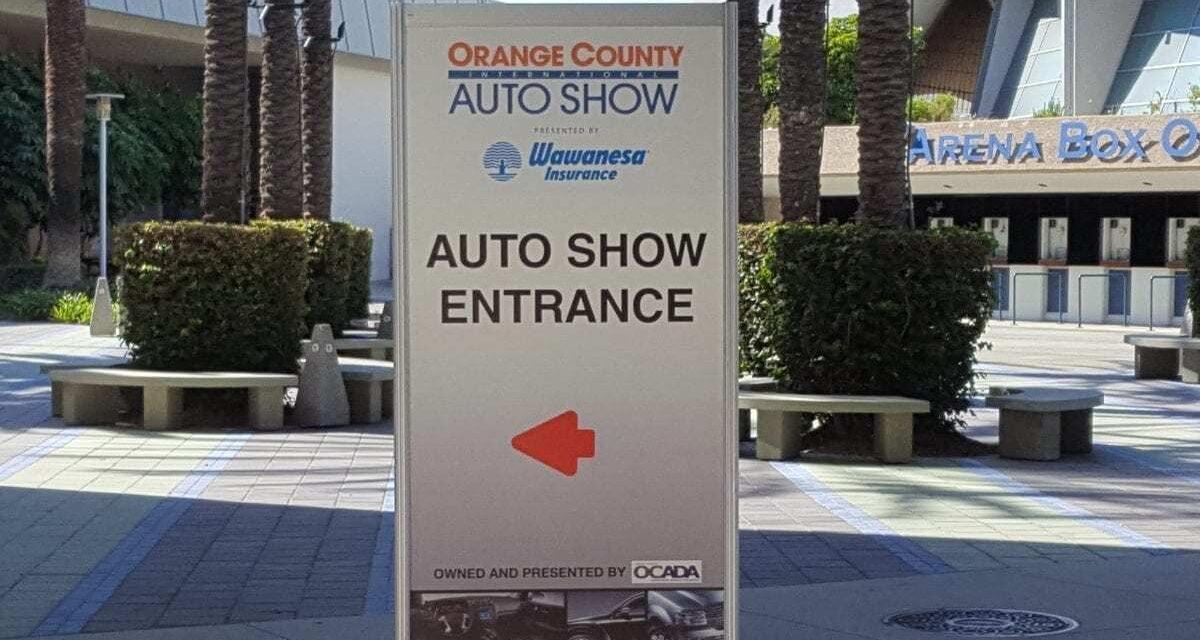 The 2019 OC Auto Show, Anaheim, CA – Oct. 3rd thru 6th