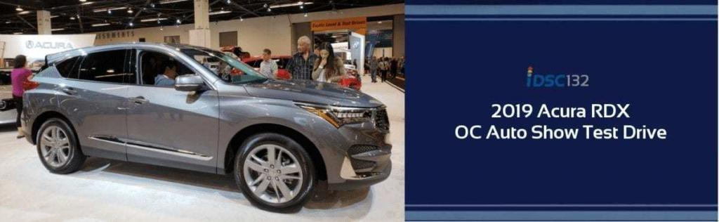 Gray 2019 Acura RDX at the Orange County Auto Show pictured in the iDriveSoCal Podcast 132 Test Drive & Review