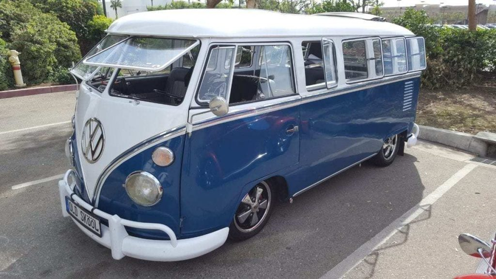 Air-Cooled VW Club blue bus
