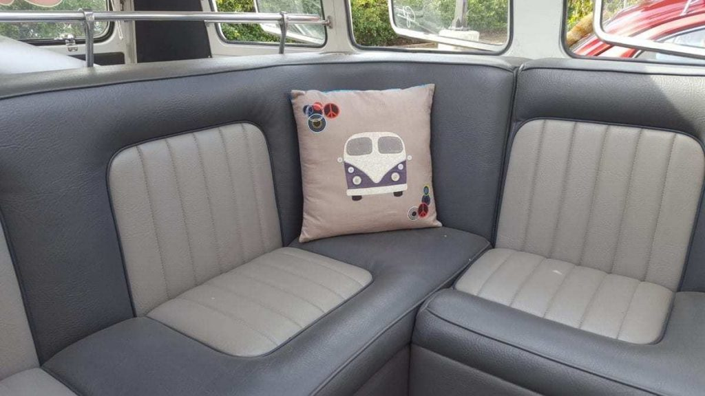 Custom interior of a classic VW Bus