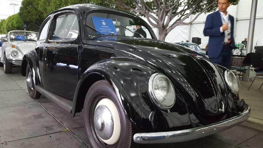 Black 1946 VW Beetle Passenger-front profile