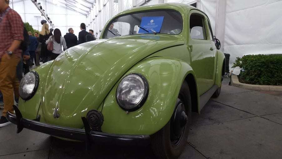 Soft green 1947 VW Beetle purchased new in England