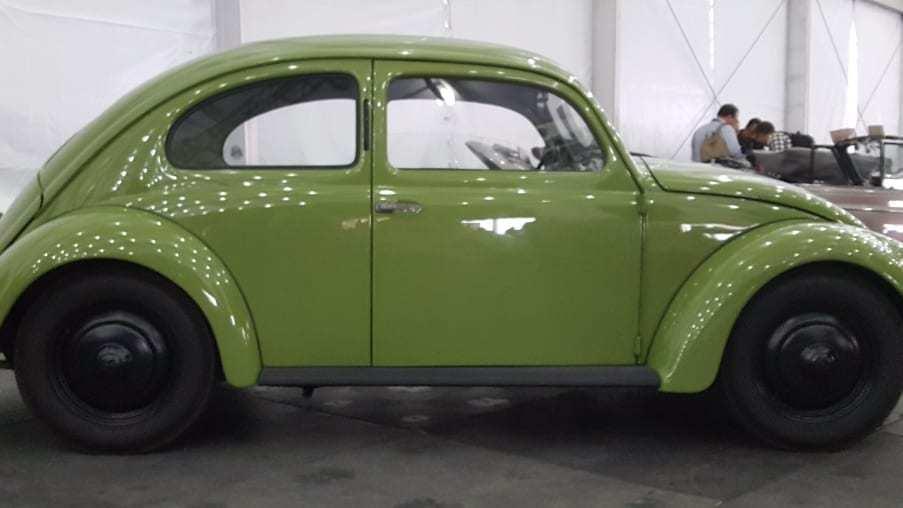 Soft green 1947 VW Beetle