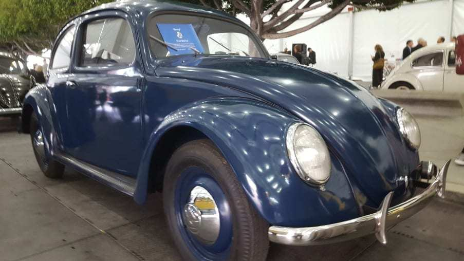 Matte blue 1949 Volkswagen Beetle
