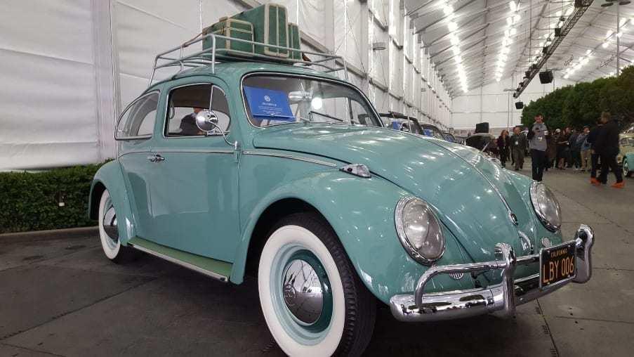 Aqua colored 1962 Volkswagen Beetle