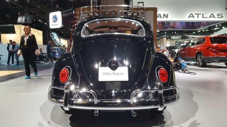 Black 1964 VW Beetle rear-view