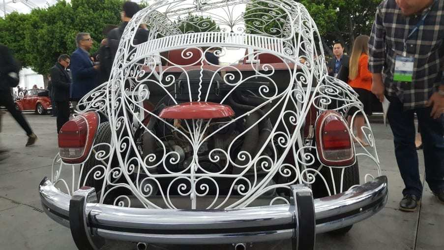 White transparent 1969 Volkswagen Wedding Beetle rear