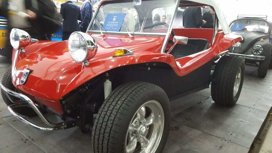 Red with white top 1971 VW Meyers Manx Buggy