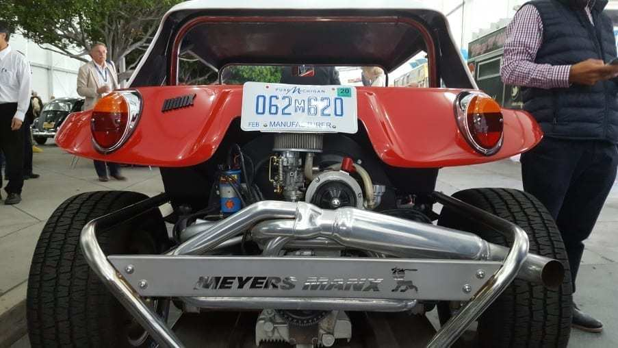 Red 1971 Volkswagen Meyers Manx Buggy Rear