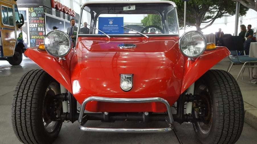 Red 1971 Volkswagen Meyers Manx Buggy front