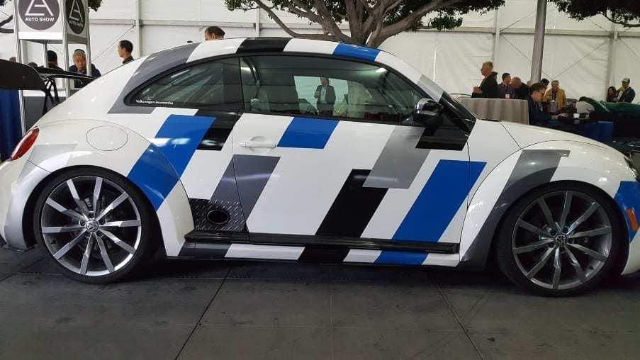 White, blue, gray & black 2012 VW Beetle VR6 Concept Passenger profile