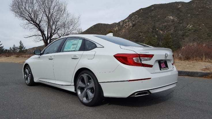 White 2018 Honda Accord Driverside rear-view