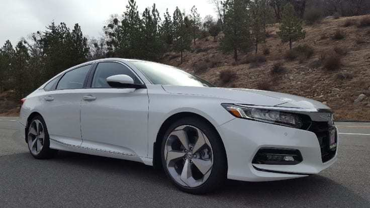 White 2018 Honda Accord Passenger-side front-view