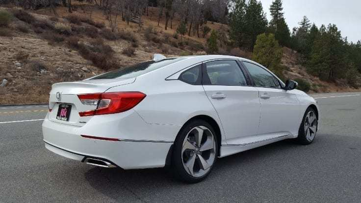 White 2018 Honda Accord Passenger-side rear-view