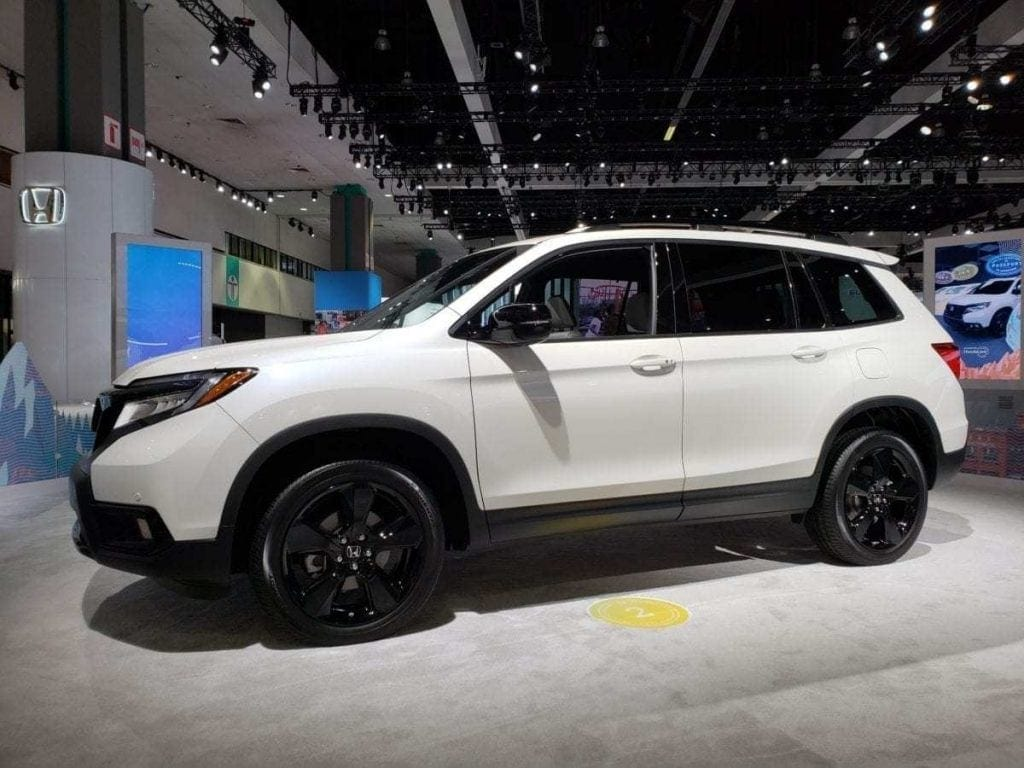 2019 Honda Passport White Driver-side Profile