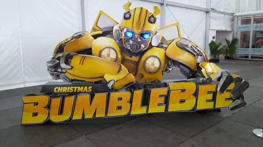 Yellow Bumblebee Beetle motion picture promotion