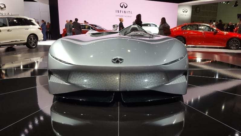 Infiniti Concept Front-view 2018 LA Auto Show - Sleek, gray, one-seat and no windshield