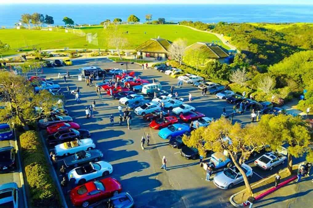 Malibu Cars And Coffee drone pic