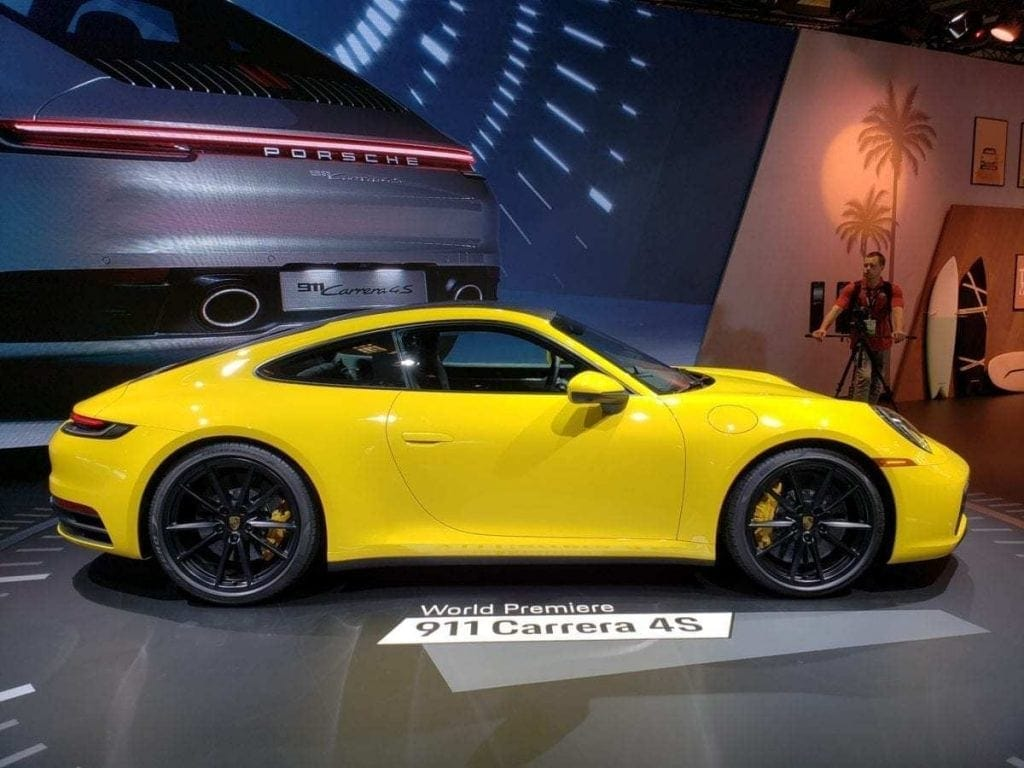 Yellow Porsche 911 Carrera 4S Pasenger-side Profile