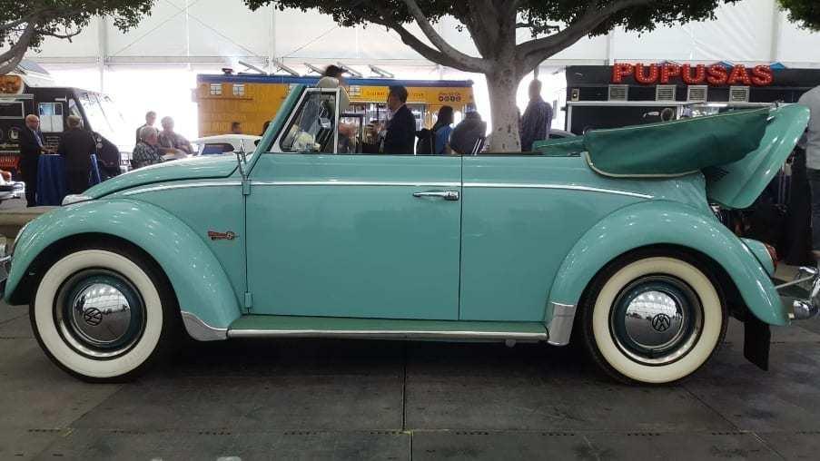 Classic VW Cabriolet parked at AutoMobility LA
