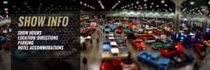 multiple cars on display showroom floor of Classic Auto Car Show